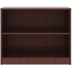 Lorell 2-Shelf Bookcase, 36 in x 12 in x 29-1/2 in, Mahogany