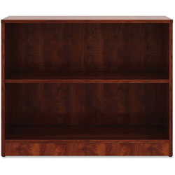 Lorell 2-Shelf Bookcase, 36 in x 12' x 29-1/2 in, Cherry