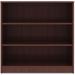 Lorell 3-Shelf Bookcase, 36 in x 12 in x 36 in, Mahogany