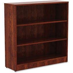 Lorell 3-Shelf Bookcase, 36 in x 12 in x 36 in, Cherry