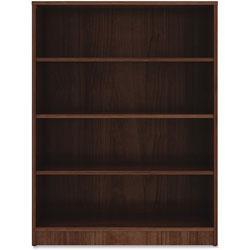 Lorell 4-Shelf Bookcase, 36 in x 12 in x 48 in, Walnut