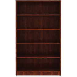 Lorell 5-Shelf Bookcase, 36' x 12 in x 60 in, Cherry