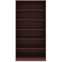 Lorell 6-Shelf Bookcase, 36 in x 12 in x 72', Mahogany