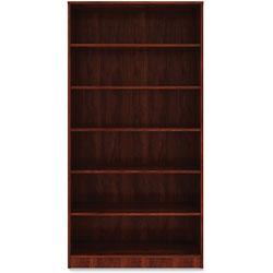 Lorell 6-Shelf Bookcase, 36 in x 12 in x 73', Cherry