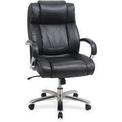 Lorell Big/Tall Chair, 500LB Cap, 22-7/8 in x 30-1/4 in x 45-3/4 in, Black