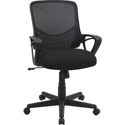 Lorell Task Chair, Mesh Back, 25 in x 25-7/8 in x 39-1/2 in, Black