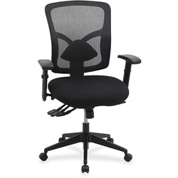 Lorell Mid Back Mesh Chair, 33-1/2 in x 23-5/8 in x 18-7/8 in, Black