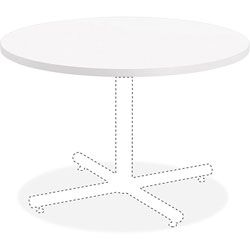 Lorell Laminate Round Tabletop, 42 in, White