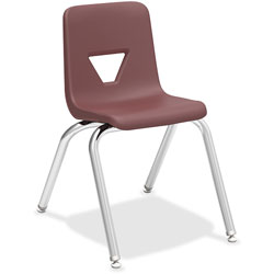 Lorell Stacking Student Chair, 16'x20-1/2 in x 27 in, Wine