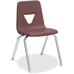 Lorell Stacking Student Chair, 18-3/4 in x 20-1/2 in x 30 in, Wine