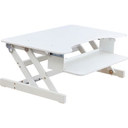 Lorell Desk Riser, Adjustable, 32 in x 21 in x 16 in, White