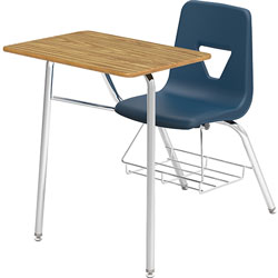 Lorell Student Combo Desk, 24 in x 34 in x 31 in, 2/CT, Navy