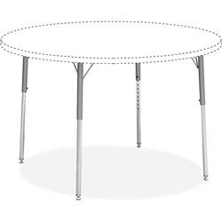 Lorell Activity Table Leg Kit Only, 4/CT, Silver