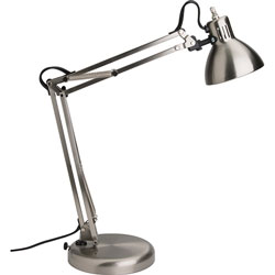 Lorell Architect-Style Desk Lamp, LED, 4.5-Watt, 6 inWx6 inLx18 inH, Silver