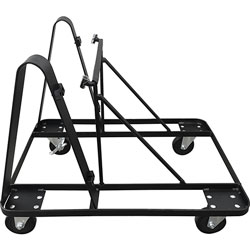 Lorell Mobile Dolly for 10 Stacking 4-Leg Chairs, Steel, Black