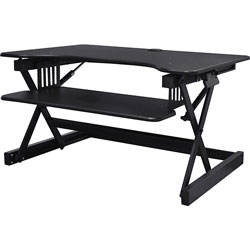 Lorell Desk Riser, Sit-Stand, 40 lb. capacity, 34-1/2 in x 27 in x 9 in, Black