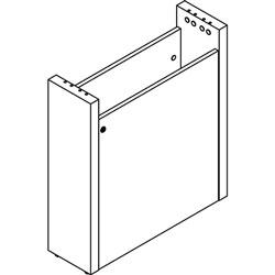 Lorell Base w/Wire Management Door, 24 inx8 inx28 in, Mahogany