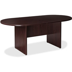 Lorell Conference Table, Racetrack Top, 72 inWx36 inDx29 inH, Espresso