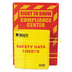 LabelMaster SDS Compliance Center, 14w x 4.5d x 20h, Yellow/Red