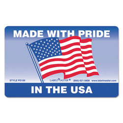 LabelMaster Warehouse Self-Adhesive Label, 5 1/4 x 3, MADE WITH PRIDE IN THE USA, 500/Roll