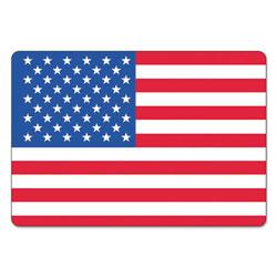 LabelMaster Warehouse Self-Adhesive Label, 4 1/2 x 3, USA FLAG, 100/Pack
