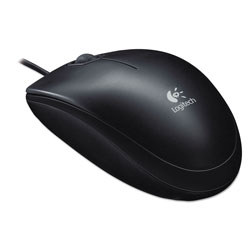 Logitech B100 Optical USB Mouse, USB 2.0, Left/Right Hand Use, Black