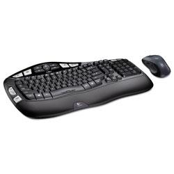 Logitech MK550 Wireless Wave Keyboard + Mouse Combo, 2.4 GHz Frequency/30 ft Wireless Range, Black