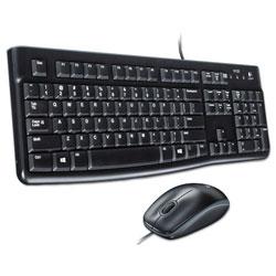 Logitech MK120 Wired Keyboard + Mouse Combo, USB 2.0, Black