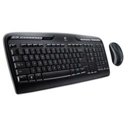 Logitech MK320 Wireless Keyboard + Mouse Combo, 2.4 GHz Frequency/30 ft Wireless Range, Black