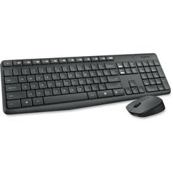 Logitech Wireless Keyboard And Mouse MK235, Gray