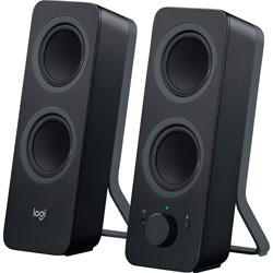 Logitech Computer Speakers, w/Bluetooth, 3-1/2 inx4-9/10 inx9-1/2 in, 2/ST, Black