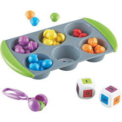 Learning Resources Mini Muffin Match Up Set, Pre K+, Ast