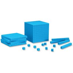 Learning Resources Plastic Base Ten Starter Set, Blue