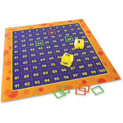 Learning Resources Hip Hoppin Hundreds Mat, 4'x4', Multi