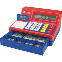 Learning Resources Pretend/Play Calulator Cash Register, 71Pcs, Multi