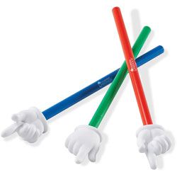 Learning Resources Hand Pointers Set, 15 in, Assorted Colors, 3/Set