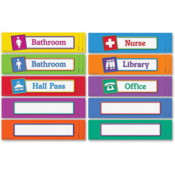 Learning Resources Magnetic Hall Passes, 9-1/2 in x 2-1/4 in, Set Of 10, Multi