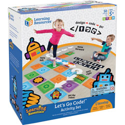Learning Resources Activity Set, Let's Go Code, 10 inWx11-1/10 inLx6-1/10 inH, Multi