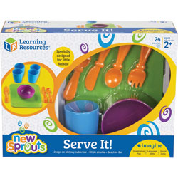 Learning Resources Serve It, Dish Set, 24/ST, Multi