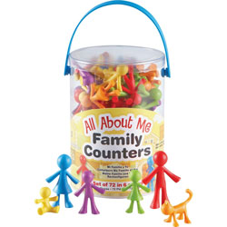 Learning Resources All About Me Family Counters, 72/PK, Multi