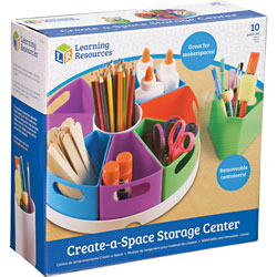 Learning Resources Create-A-Space Storage Center, 12 inWx12 inLx4-3/5 inH, Multi