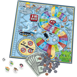 Learning Resources Money bags A Coin Value game, 116 Pieces