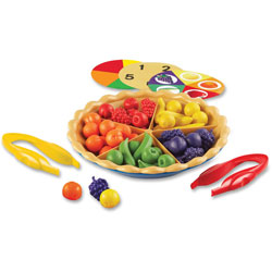 Learning Resources Super Sorting Pie, 8-3/4 in D, 65Pcs, Multi