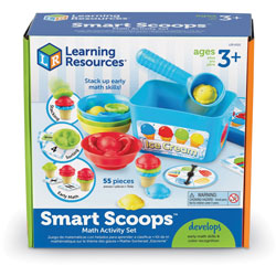 Learning Resources Math Activity Set, Smart Scoops, 9-1/10 inx9-1/10 inx3-3/5 in