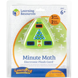 Learning Resources Minute Math Electronic Flash Card, Multi