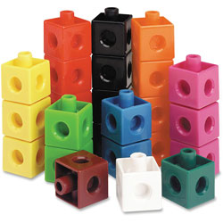 Learning Resources Snap Cubes, 100/ST, Multi