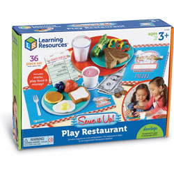 Learning Resources Play Restaurant, 10-1/5 inWx13-7/10 inLx3 inH