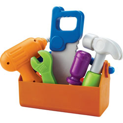 Learning Resources Fix It Tool Set, 9 in x 3-384 in x 5-1/2 in, 6/ST, Multi