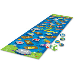 Learning Resources Crocodile Hop Floor Game, 10' x 14 in, Assorted