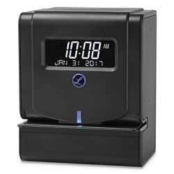 Lathem Time Heavy-Duty Thermal Time Clock, Charcoal